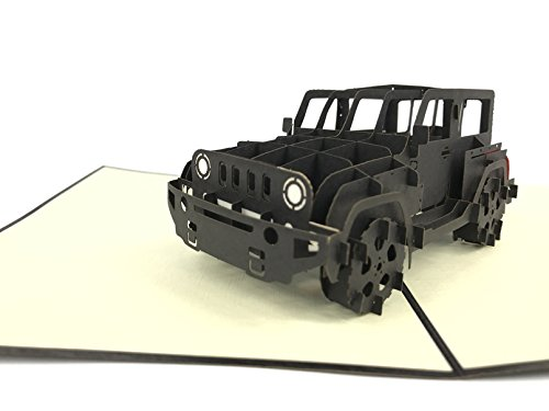 Jeep   Land Rover   Big Ben  Landmark Pop Up Greeting Card Mercedes Benz Car Anniversary Baby Happy Birthday Easter Mothers Day Thank You Valentines Day Wedding Kirigami Paper Craft Postcards