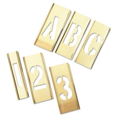 Brass Stencil Letter & Number Sets - 92pc 2