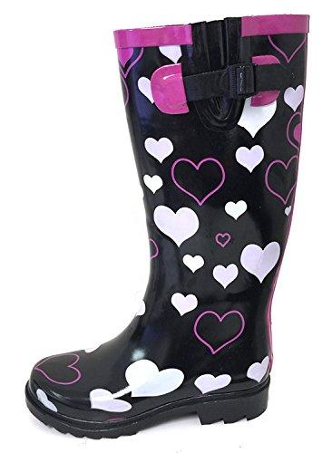 G4u Dames Regenlaarzen Meerdere Stijlen Kleur Middenkuit Wellies Gesp Mode Rubber Kniehoge Sneeuwschoenen Zwart / Harten