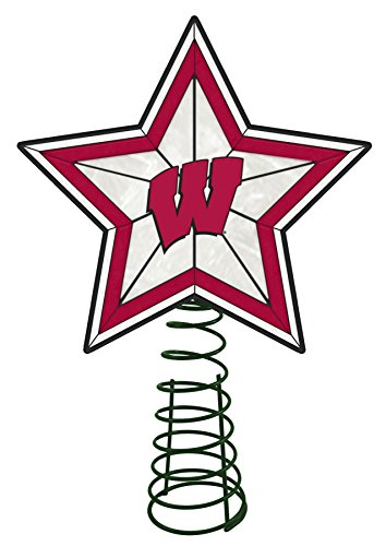 Memory Company NCAA University of Wisconsin AG Tree Topper, One Size, Multicolor from Memory Company
