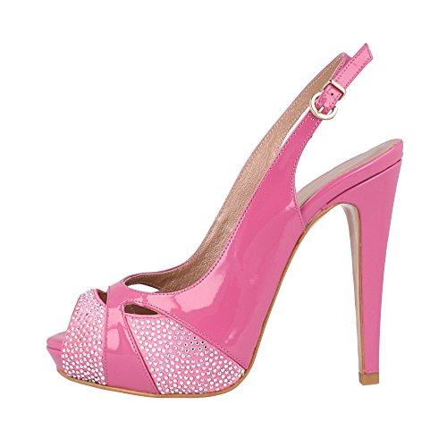 40 Couleur p Pink p Strass BOTELLA Taille avec Peep Toes ROBERTO Pwxpv4q05