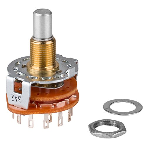 Shorting Rotary Switch (Rotary Switch 2 Pole 6 Position Shorting)