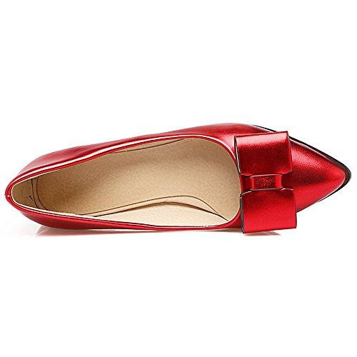 On Pumps Slip Women Red Flat Zanpa 3 wpI1Egfq