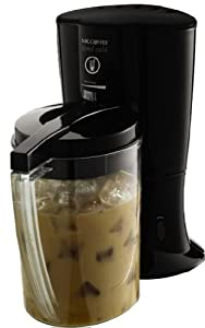 Mr. Coffee BVMC-LV1 Iced Cafe Iced Coffee Maker, Black, This makes coffee like Starbucks (hot brew then they cool it down)