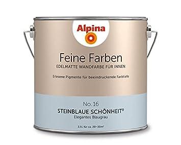 Alpina Feine Farben Steinblaue Schonheit 2 5 Lt 898602 Amazon De