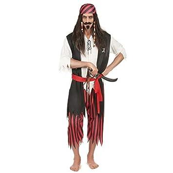 Traje de pirata del Caribe hombre disfrazado M - L: Amazon ...