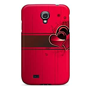Defender Case For Galaxy S4, Hearts Abstract Pattern