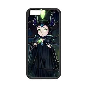 iphone6 4.7 inch Black phone case Fashion colorful art Disney Sleeping Beauty Maleficent DSY0649581