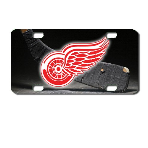 Red Wings Hockey Apple Mini License Plate motorcycles, ATVs, bicycles and kiddie cars. Great Gift Idea - Wings Kiddie