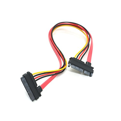 IDS 22pin (7+15) SATA Male to Female Data and Power Cable, SATA Combo Extension Cable M/F, 30cm Rl Wire