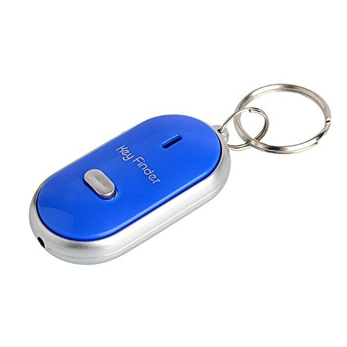 lgking supply–Localizador de llaves LED Buscar Claves de Perdido Cadena Llavero Silbato Control de Sonido bdrg
