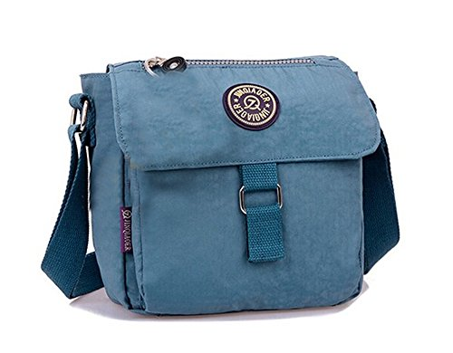 Messenger Casual Grey Purple TM Nylon Water Fansela Bag Blue Repellent Square yIZRqcYw