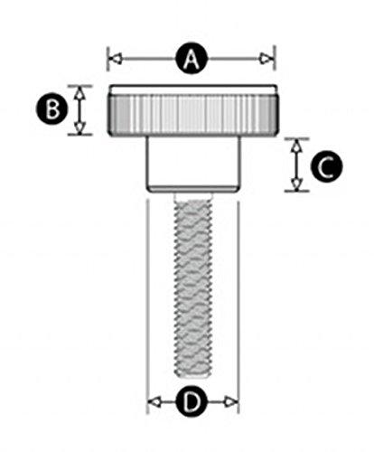 molet/é M8/x 30/mm avec vis /à ailette Plastique tr/ès solide Boutons Jigs Wing Trend Camera