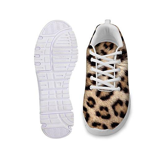 ... For U Design Mote Leopard Print Menns Og Kvinners Lette Mesh Joggesko  Leopard Print A1 ...