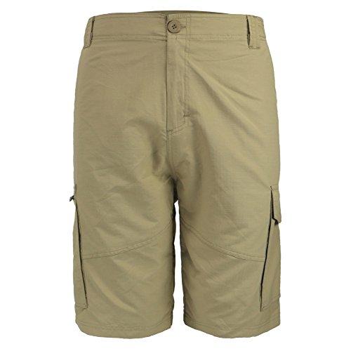 Leehanton Men's Ripstop Lightweight Cargo Shorts (40, Khaki)