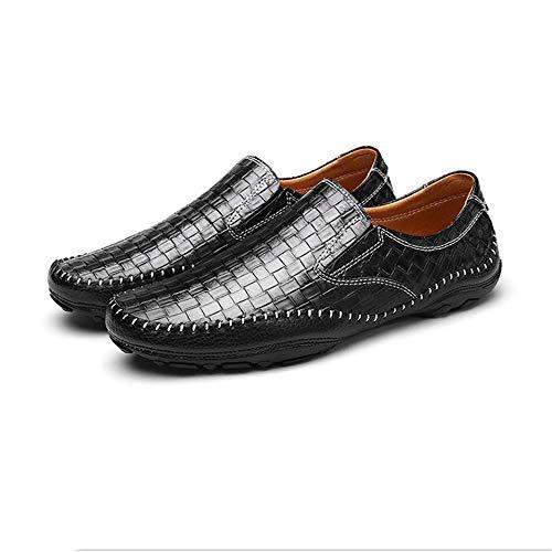 Mocassino 27 24 gommino nero guida da dimensioni 0cm tessuto blu Nero da uomo Hcwtx Scarpe traspiranti Scarpe barca casual Scarpe da in Scarpe vera Mocassino traspirante 0cm in pelle I164wqg