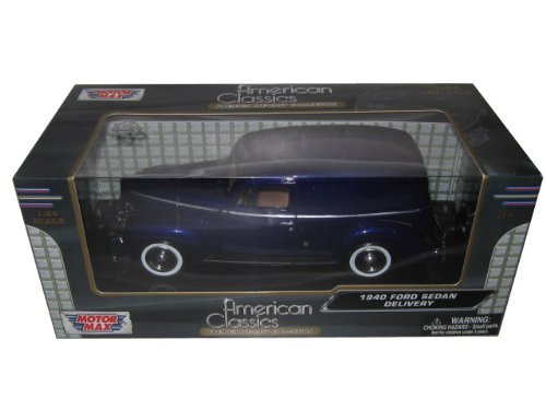 1940 Ford Sedan Delivery Purple 1/24 by Motormax 73250