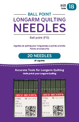 (Handi Quilter Longarm Quilting Needles - Ball Point (FG) Size 18 (Pack of 20))