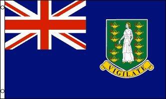 AZ FLAG British Virgin Islands Flag 3' x 5' - Virgin Islander Flags 90 x 150 cm - Banner 3x5 ft