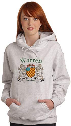 Warren Irish Coat of Arms Ash Hooded Sweat shirt
