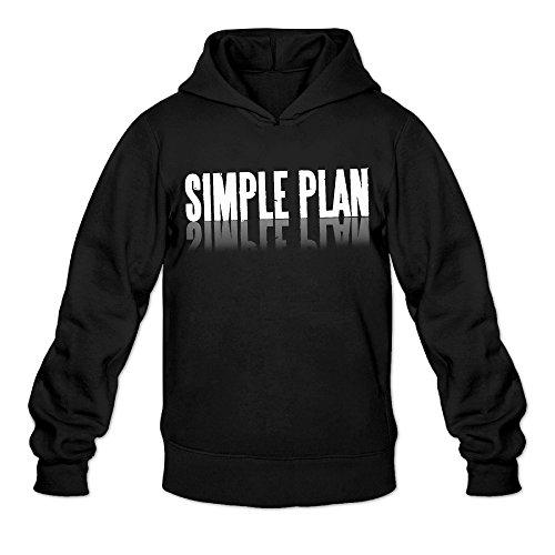 [AK79 Men's Hooded Sweatshirt Simple Punk Plan Music Logo Size XXL Black] (Caitlyn Costumes)