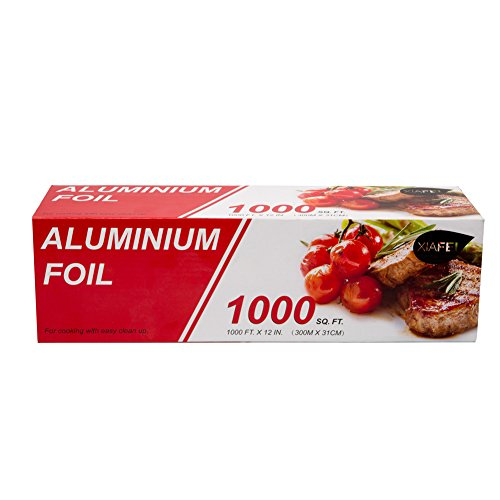 - XIAFEI Kitchen Aluminum Foil Roll, 1000' Length x 12