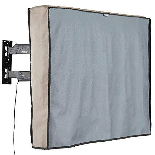 VonHaus TV Cover 40'' - 42'' Weatherproof and Dust-Proof Universal Protector with Bottom Seal and Built in Remote Controller Storage Pocket for LCD, Plasma, Television Sets.