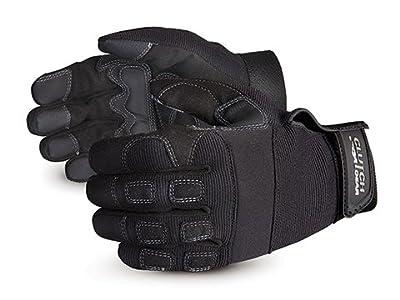 Superior MXGBL Clutch Gear Leather Mechanics Glove, Work, Black (Pack of 1 Pair)