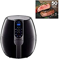 GoWISE USA 3.7-Quart Programmable Air Fryer with 8 Cook Presets, GW22638