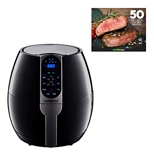 GoWISE USA 3.7-Quart Programmable Air Fryer with 8 Cook Presets, GW22638 by GoWISE USA