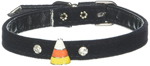 Mirage Pet Products Candy Corn Charm Collar for Dogs, 12-Inch, Velvet