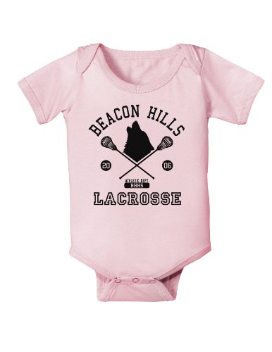 Beacon Hills Lacrosse Wolf Infant One Piece Bodysuit - Light Pink - 12 Months Beacon Hill 12 Light