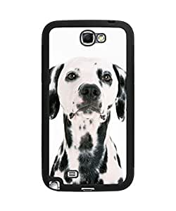 Super Funny Cute Dog Face Plastic and TPU Case Cover for Samsung Galaxy Note 2 (Laser Technology)