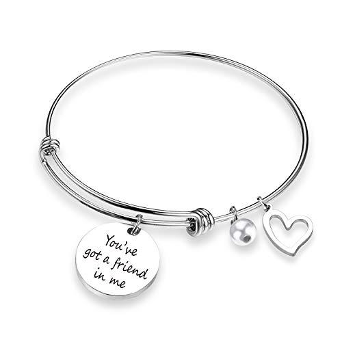 Ahora You've Got A Friend in Me Bangle Best Friends Bracelets Long Distance Friendship Gift Best Friends Jewelry (Nintendogs Best Friends Cheats)