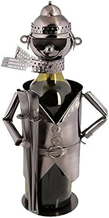 Metal Bottle Wine Holder Ornament Decor Kitchen Gift Novelty Rack Stand Fun New Biker