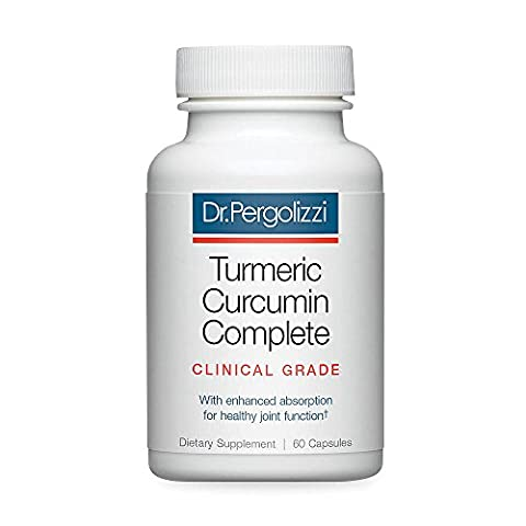 Dr. Pergolizzi's Turmeric Curcumin Complete Supplement for Joint Pain Relief and Antioxidant Support, 60 softgels (30-day (Healthy Directions)