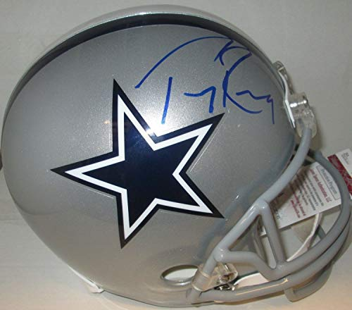 (Cowboys Tony Romo Autographed Full Size Replica Helmet Signed - 4X Pro Bowl - JSA Certified)