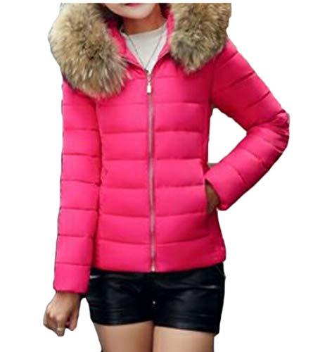 EKU Women Winter Hooded Padded Jacket Down Coats Warm Parka Outwear 4