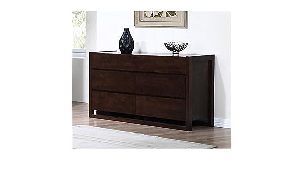 . Amazon com   Minimal Style Wenge 6 drawer Tall Dresser   Baby