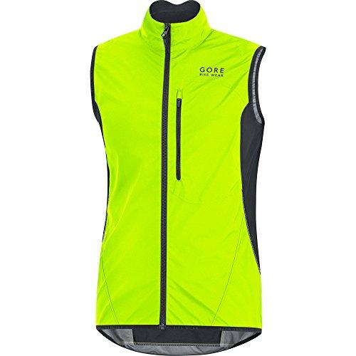 (GORE BIKE WEAR Men's Soft Shell Cycling Vest, GORE WINDSTOPPER,  Vest, Size: XXL, Neon yellow/Black, VWELMT)