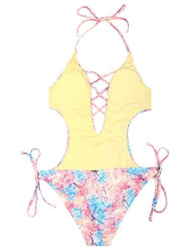 Relleciga Laccetti Costume Monokini Dandelion Intero Con Donna BwAPBqr