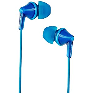 Panasonic RP-HJE125-A Wired Earphones, Blue, 7 x 9.8 x 20
