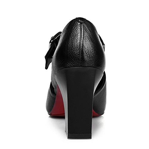 AN Womens Cold Lining Non-Marking Dress Urethane Sandals DIU00854 Black ohDzad