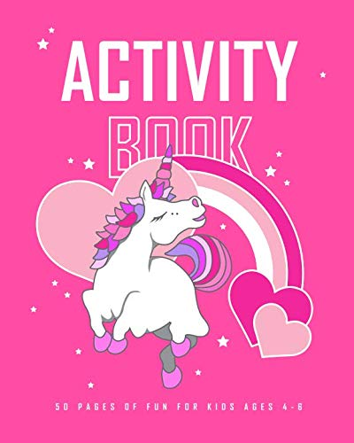 Activity Book: 50 Pages of Fun for Kids Ages 4-6: 8x10