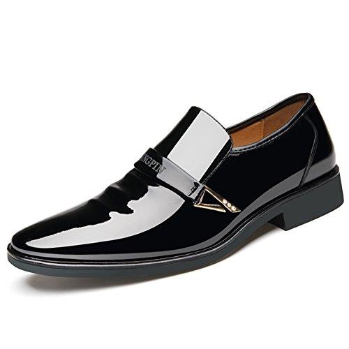 HUAN Chaussures Formelles pour Hommes 2018 New Bout Pointu Robe Brillante Chaussures de Mariage furtif Intensifier des Chaussures D'Affaires B