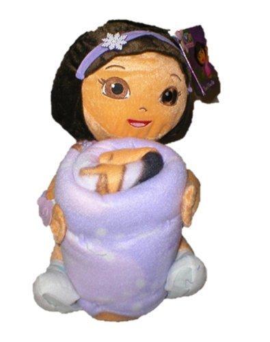 Nickelodeon Dora the Explorer Sparkly Hugs Throw (40x50) and Pillow Set