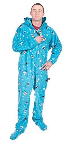 Forever Lazy Detachable Feet Adult Onesie - North Pole - L]()