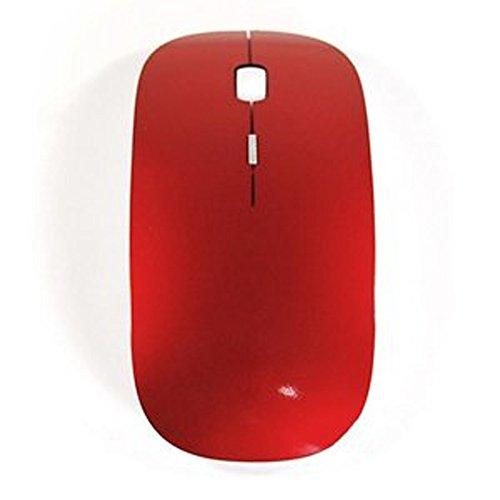 Vanki Red 2.4G RF DPI Blue Optical light wireless USB Mouse for Apple macbook 13
