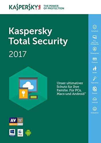 Kaspersky Total Security 2017 / 3 Geräte / 2 Jahre Medialess & Datenrettung by EaseUS