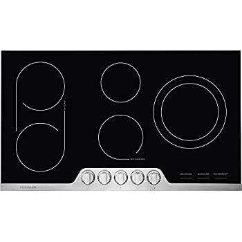 Frigidaire Professional 36 Inch Electric Range, Ceramic Glass 5-Burner Flat with Stainless Steel Trim, FPEC3677RF Cooktop